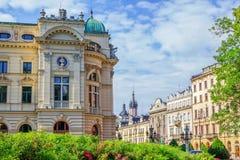 克拉科夫老镇都市风景  库存照片