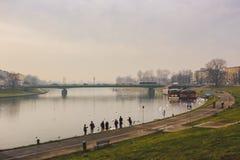 克拉科夫,波兰湖视图,市中心 库存图片