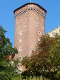 克拉科夫,波兰皇家城堡在克拉科夫瓦维尔山 免版税库存照片