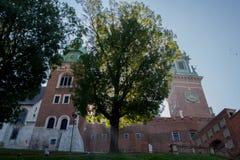 克拉科夫,波兰, 01/10/2017, Wavel城堡 免版税图库摄影