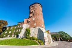 克拉科夫,波兰- 2017年10月2日, :Wavel城堡,克拉科夫,波兰 库存图片