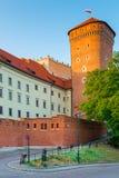 克拉科夫,波兰- 2017年8月11日:克拉科夫,高砖塔-沃镇 库存图片