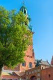 克拉科夫,波兰- 2017年8月11日:沃镇有趣的地方塔  免版税库存图片