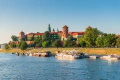 克拉科夫,波兰- 2017年8月11日:著名W的全景 免版税库存图片