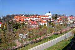 克拉科夫,波兰- 2015年4月10日:历史的圣玛丽的教会 免版税图库摄影