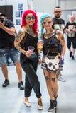 克拉科夫,波兰-第10次国际纹身花刺大会的参加者在国会商展中心 库存照片