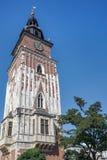 克拉科夫, POLAND/EUROPE - 9月19日:城镇厅平方塔的市场 免版税库存照片