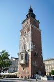 克拉科夫, POLAND/EUROPE - 9月19日:城镇厅平方塔的市场 库存照片