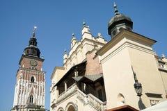 克拉科夫, POLAND/EUROPE - 9月19日:城镇厅平方塔的市场 免版税图库摄影