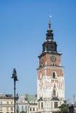 克拉科夫, POLAND/EUROPE - 9月19日:城镇厅平方塔的市场 图库摄影