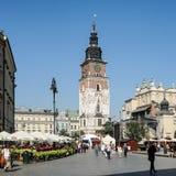 克拉科夫, POLAND/EUROPE - 9月19日:城镇厅平方塔的市场 库存图片