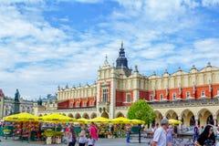 克拉科夫-主要集市广场看法  免版税库存照片