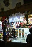 克拉科夫8月19,2014 :布料霍尔内部在克拉科夫,波兰 免版税库存照片