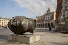 克拉科夫-主要集市广场 图库摄影