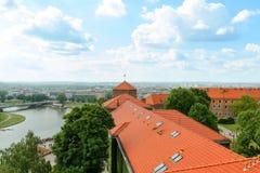 克拉科夫- Wawel城堡天foto 波兰 库存照片