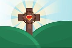 克服复活节圣洁主题 库存照片