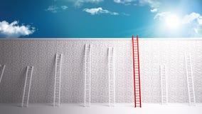 克服对成功的墙壁 免版税库存照片