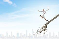 克服挑战的事业梯子 图库摄影