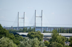 克服新severn的桥梁caldicot 免版税图库摄影
