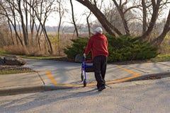 克服的有残障的街道 免版税图库摄影
