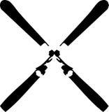 克服的滑雪 免版税图库摄影
