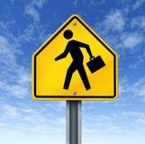 克服财务人人员的简要企业案件 图库摄影