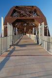 克林顿总统公园桥梁在小岩城,阿肯色 图库摄影