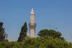 克比尔清真寺,拉纳卡,塞浦路斯 免版税图库摄影