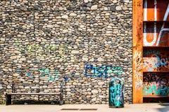 克洛和水泥在都市公园 免版税库存照片