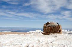 派克的峰顶,科罗拉多山顶  库存照片