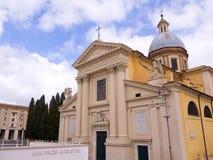 克罗地亚人的圣杰罗姆教会在罗马意大利 图库摄影