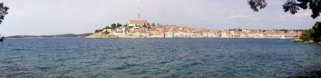 克罗地亚全景rovinj 免版税库存图片