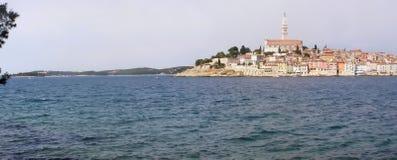 克罗地亚全景rovinj 库存图片