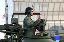 克罗地亚军事游行,萨格勒布2015年 免版税库存照片