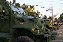 克罗地亚军事游行,萨格勒布2015年 8 免版税库存图片