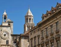 克罗地亚分开的城镇 免版税库存照片