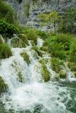 克罗地亚国家公园plitvice瀑布 Plitvice, 免版税库存图片