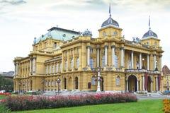 克罗地亚国家戏院,萨格勒布,克罗地亚 免版税图库摄影