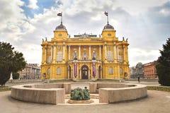克罗地亚国家戏院,萨格勒布,克罗地亚 库存照片