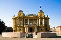 克罗地亚国家戏院 免版税库存图片