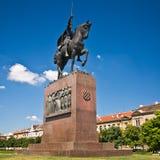 克罗地亚国王雕象tomislav萨格勒布 免版税库存图片