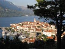 克罗地亚地中海的Korcula 库存图片