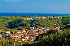 克罗地亚地中海susak城镇 免版税图库摄影