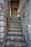克罗地亚地中海vilage房子入口 图库摄影