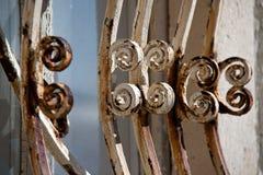克罗地亚地中海vilage房子窗口装饰品 免版税库存图片