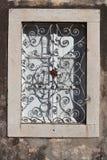 克罗地亚地中海vilage房子窗口 库存照片