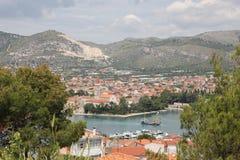 克罗地亚城镇 免版税库存照片