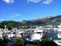 克罗地亚小游艇船坞 免版税库存图片