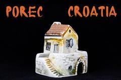 克罗地亚房子,全国建筑学 免版税库存图片