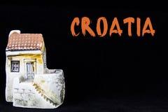 克罗地亚房子,全国建筑学 免版税库存照片